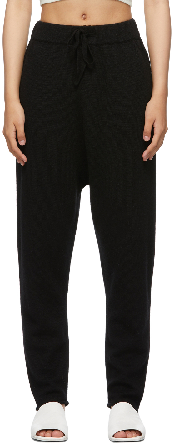 Black Drawstring Jogger Lounge Pants