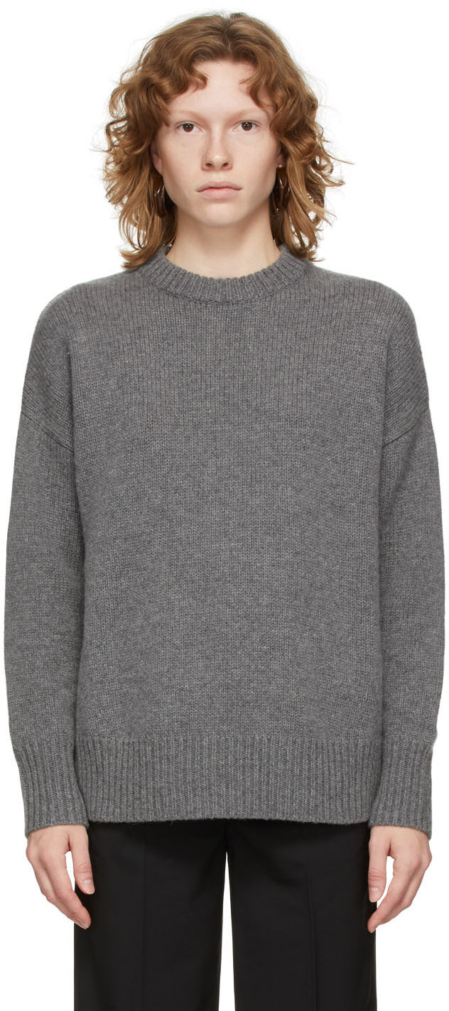 Grey Cashmere Boyfriend Sweater