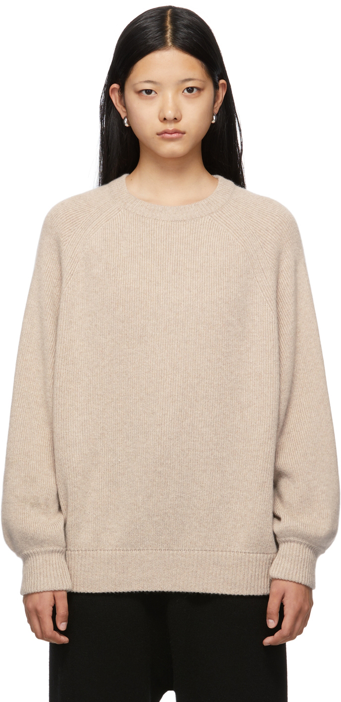 Beige Crewneck Sweater