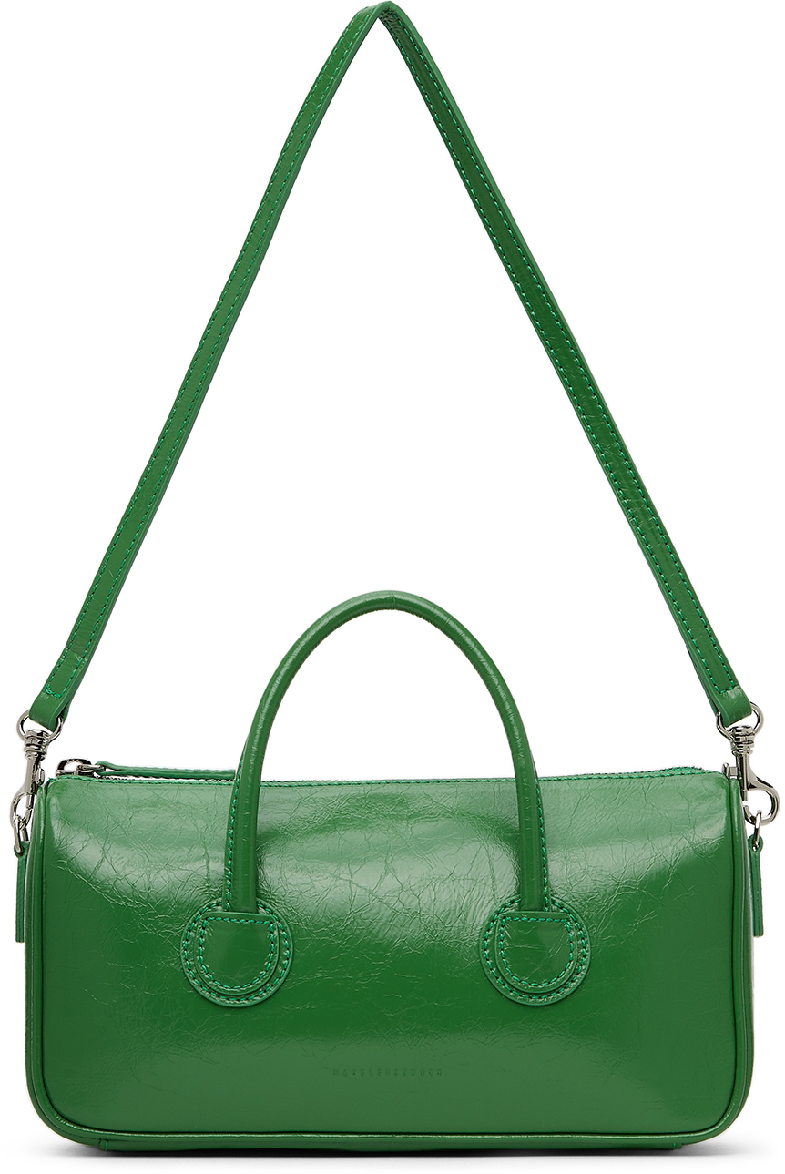 Green Crinkled Small Zipper Bag