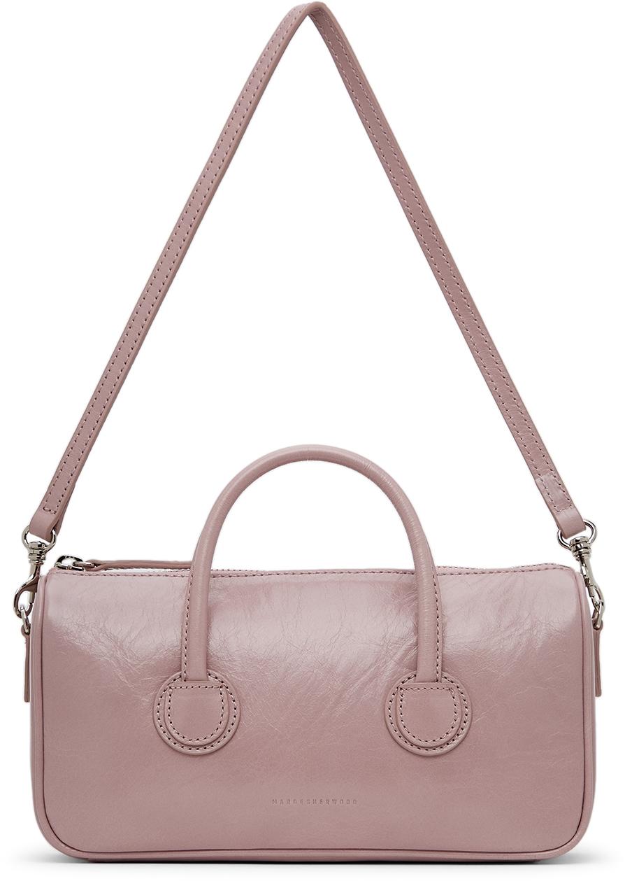 Purple Crinkled Small Zipper Bag