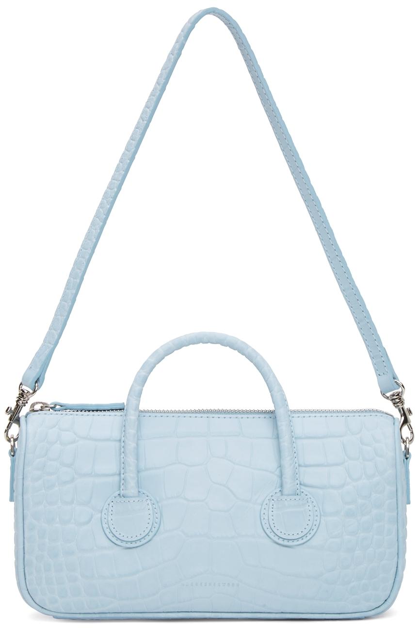 Blue Croc Small Zipper Bag