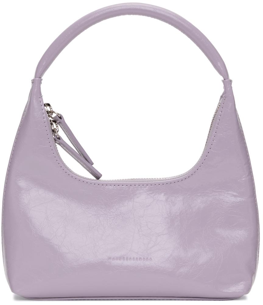 Purple Crinkled Mini Shoulder Bag