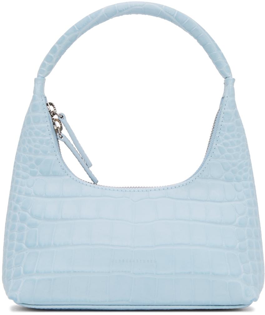 Blue Croc Mini Shoulder Bag