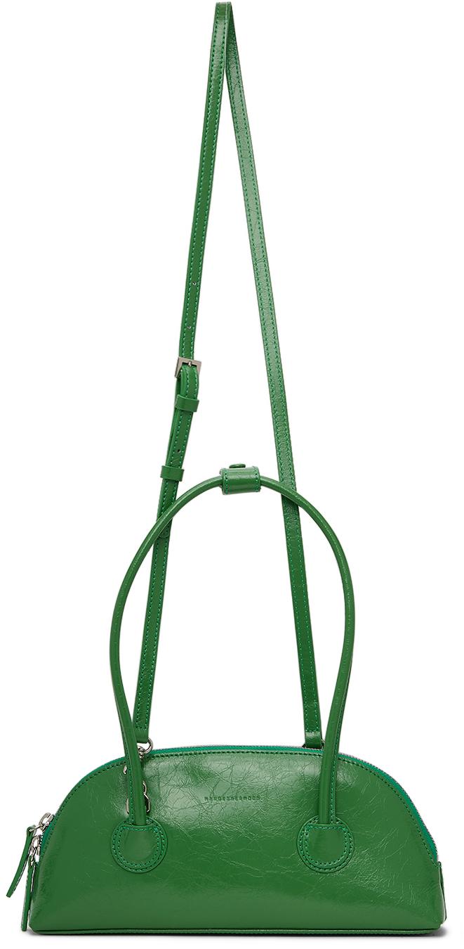 Green Crinkled Bessette Bag