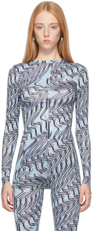 Blue Body Shop Long Sleeve T-Shirt
