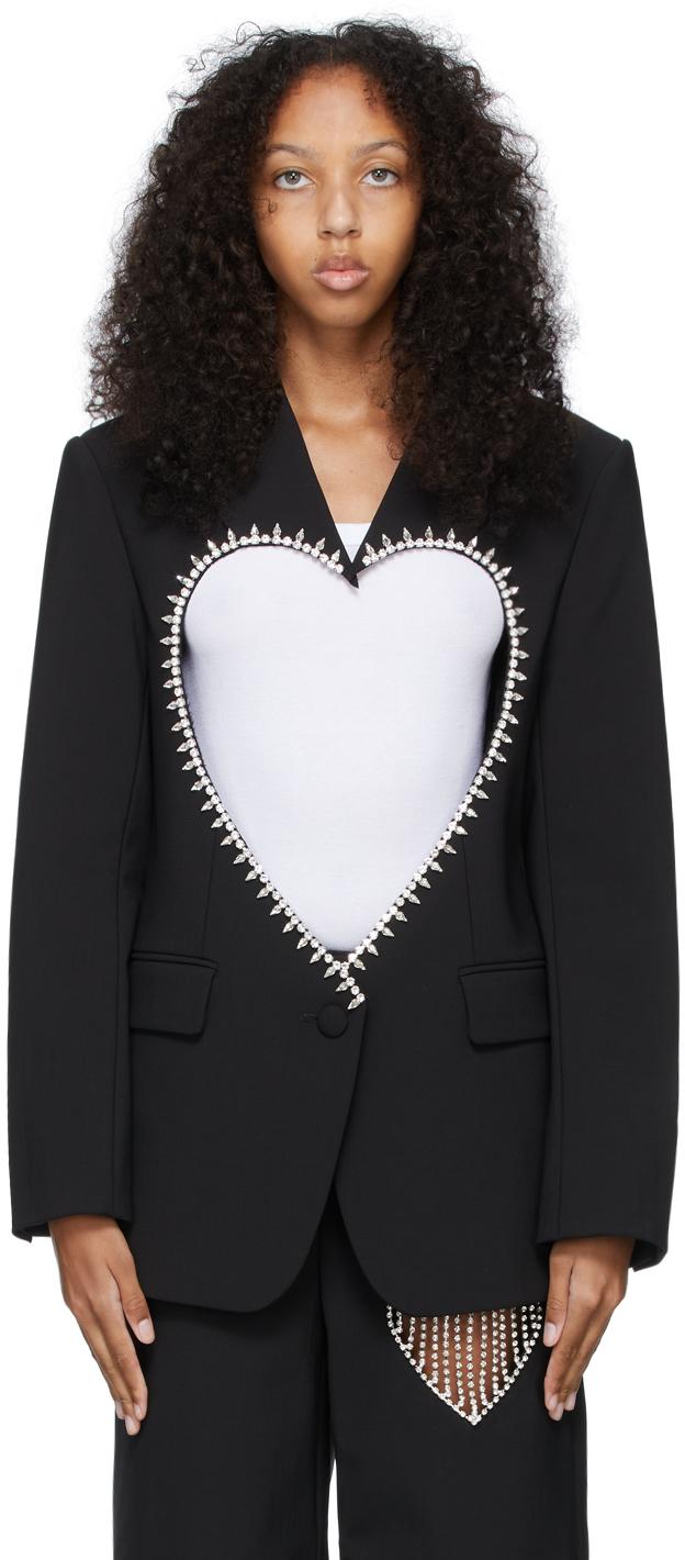 Black Heart Cut-Out Blazer