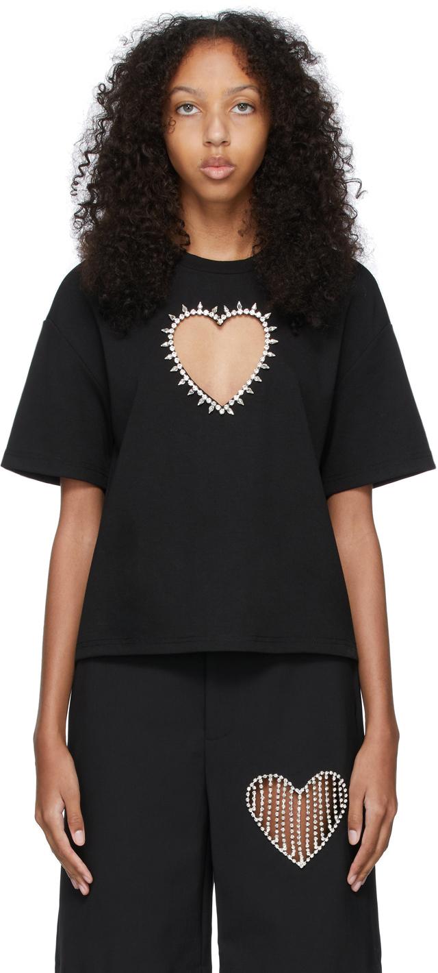 Black Heart Cut-Out T-Shirt