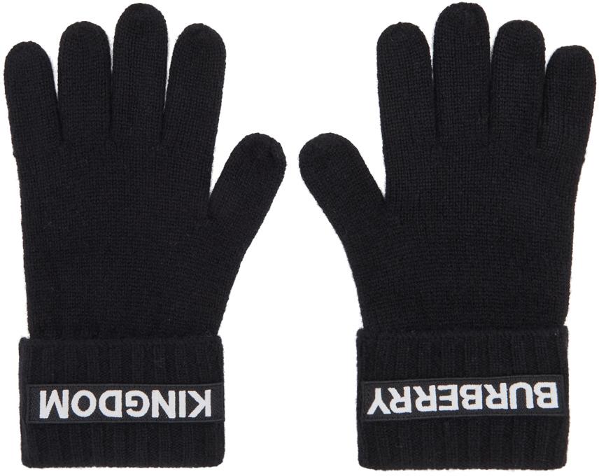 Black Cashmere Logo & 'Kingdom' Gloves