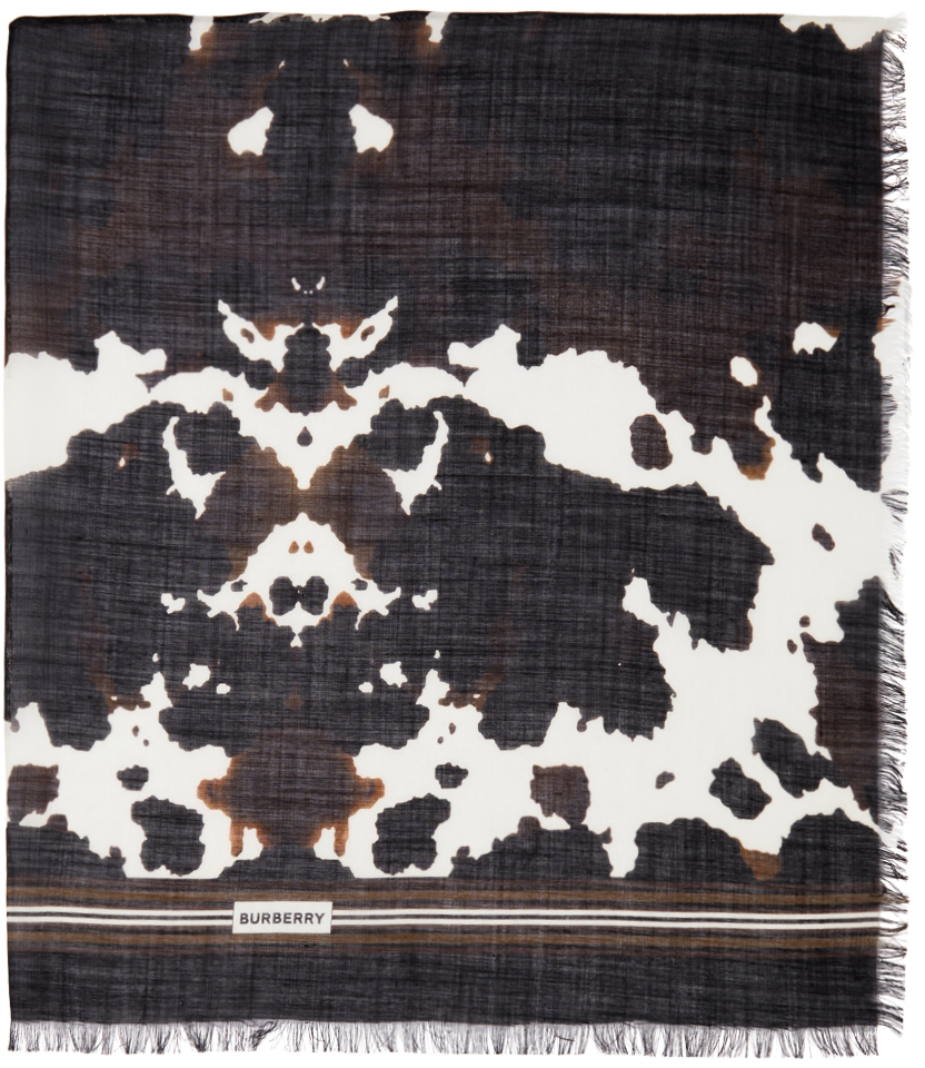 Brown Camouflage Print Scarf