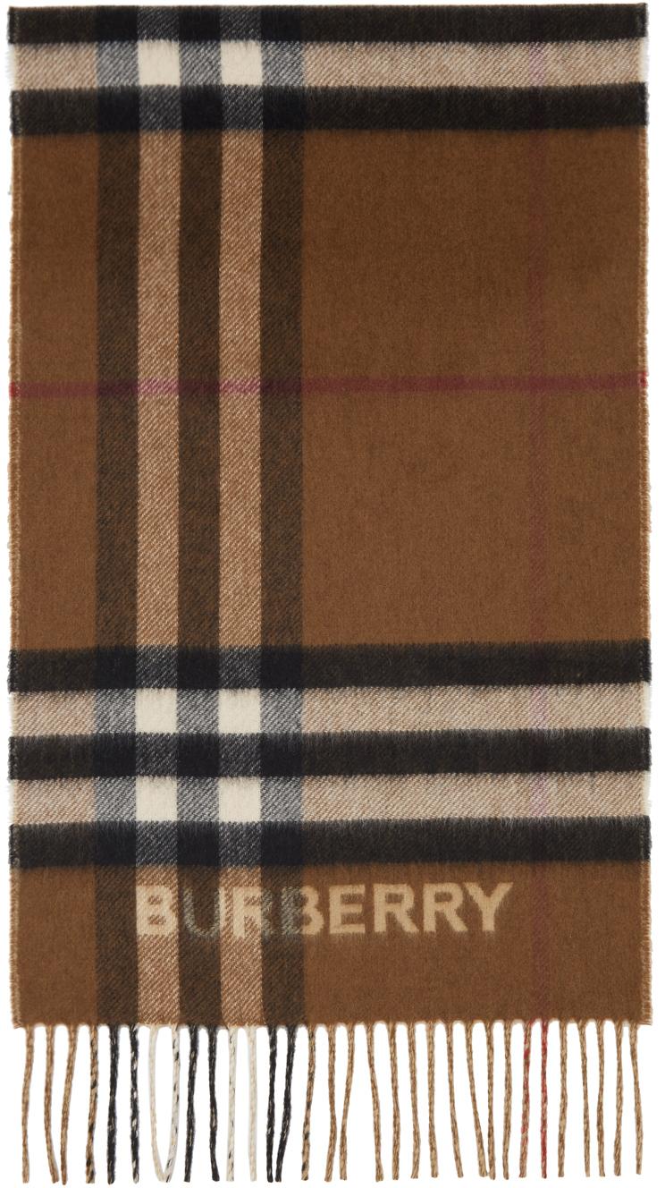 Burberry カシミア コントラスト チェック マフラー