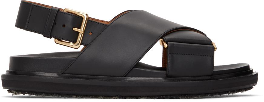 Black Fussbett Sandals