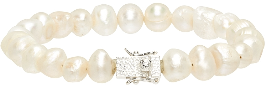 White Antique Pearl Bracelet