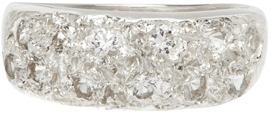 Silver Mini Riviera Ring