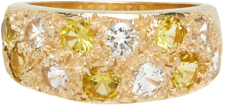 SSENSE Exclusive Gold & Yellow Riviera Ring