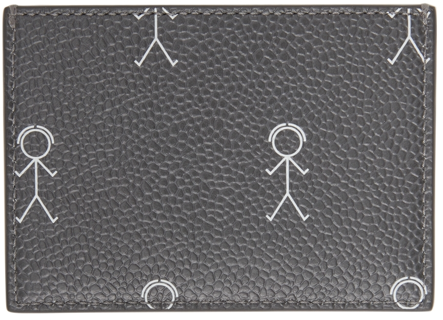 Grey 3D Mr. Thom Double Card Holder