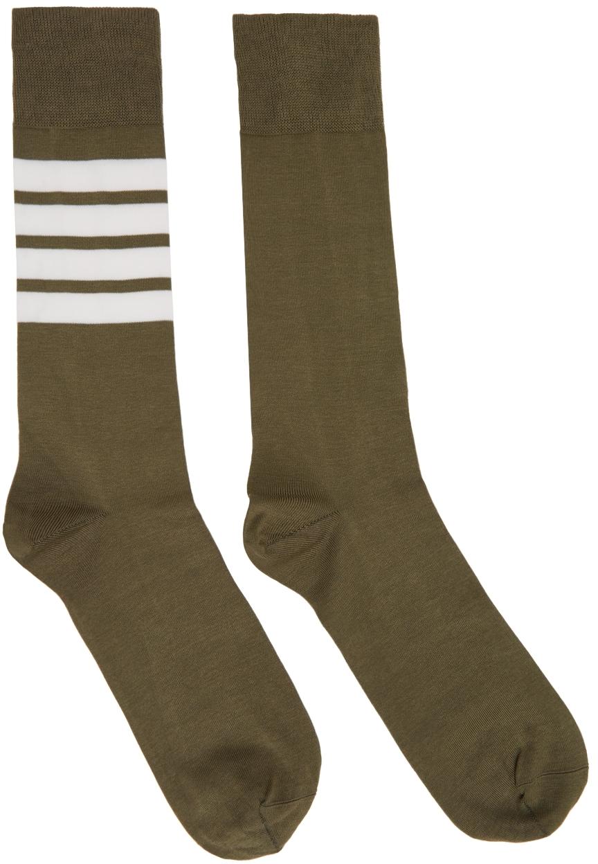 Khaki 4-Bar Socks