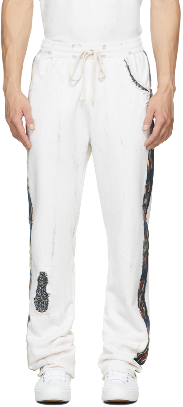 White Rocky Riders Lounge Pants