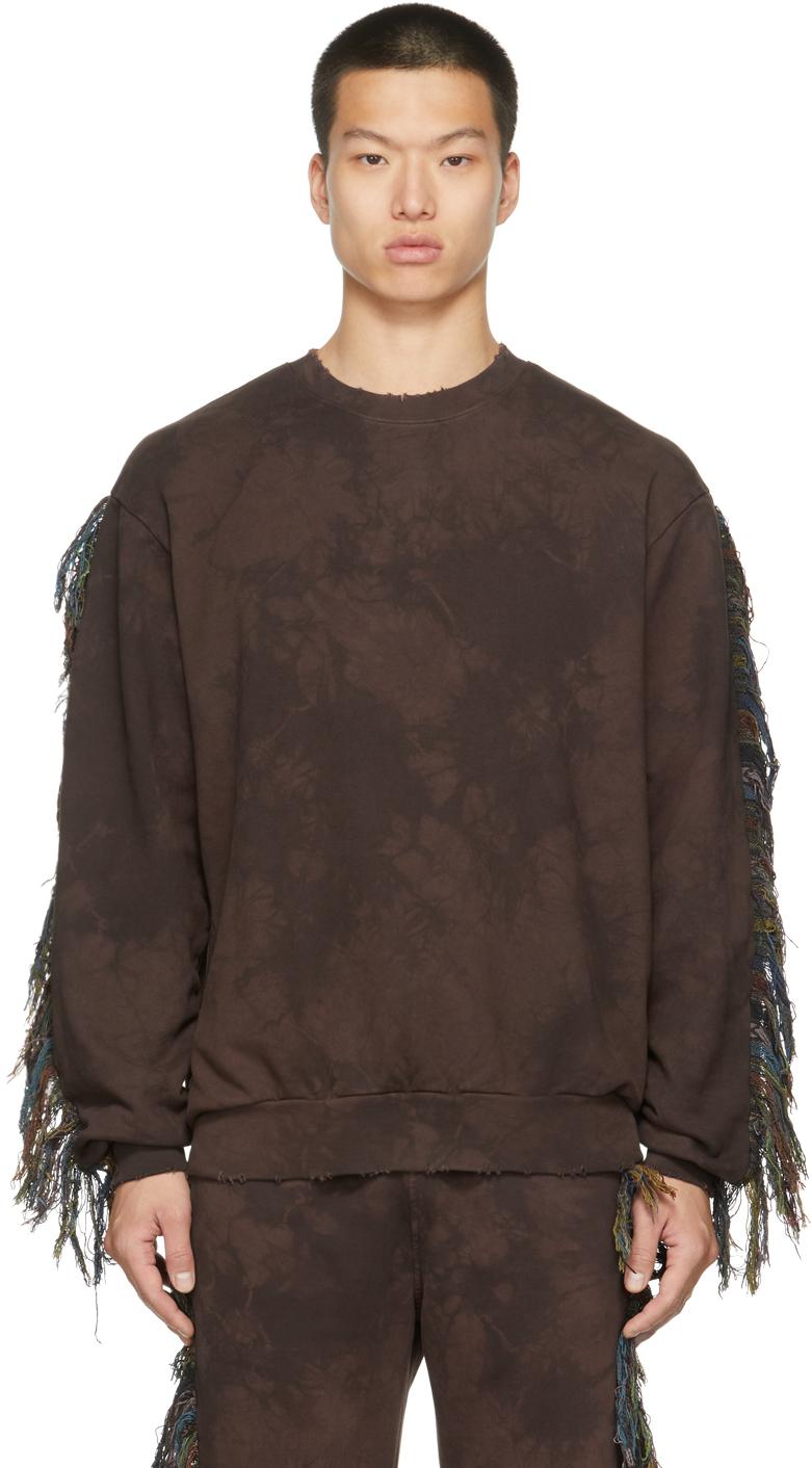Brown Surf Fringe Sweatshirt