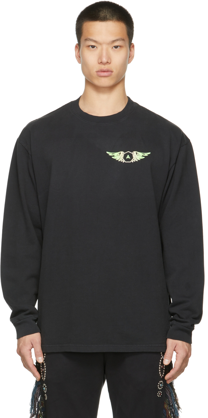 Black 'Hell Or High Water' Long Sleeve T-Shirt