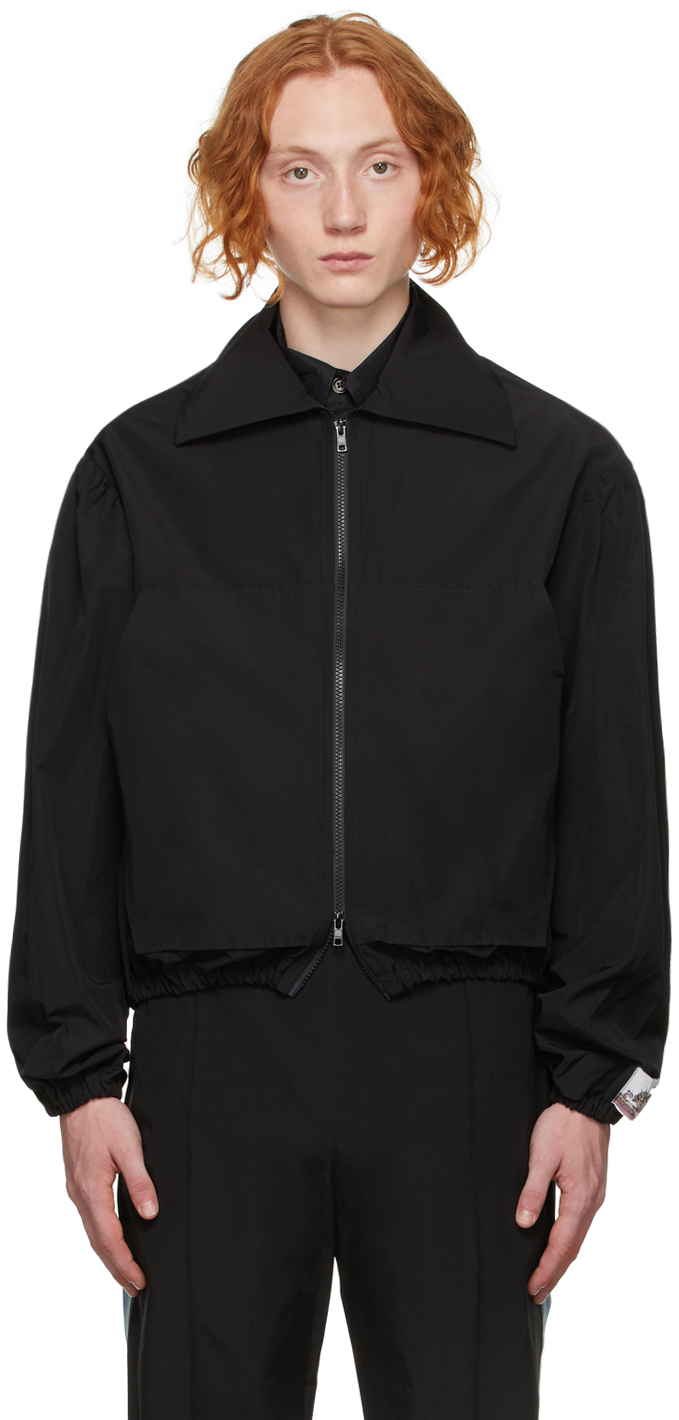 Black Canvas Victorian Bomber Jacket