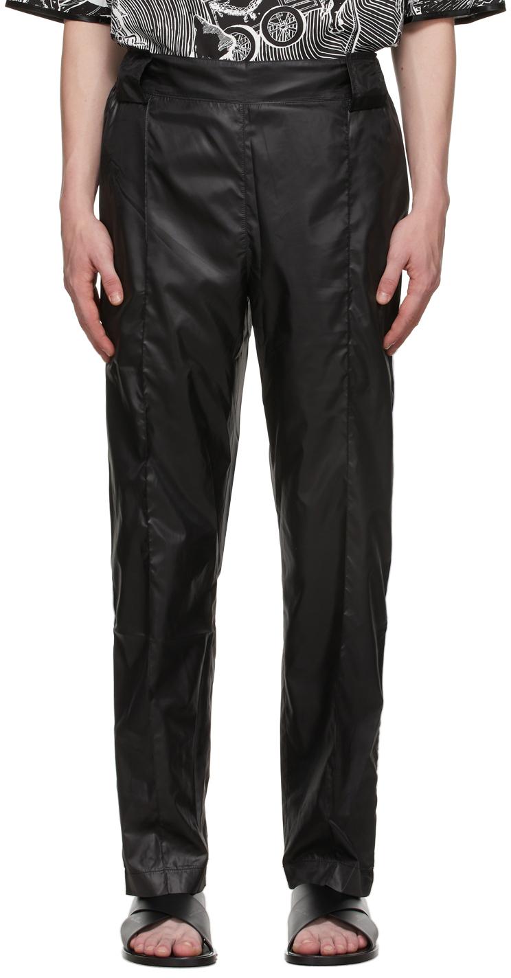Black & White Satin Army Trousers