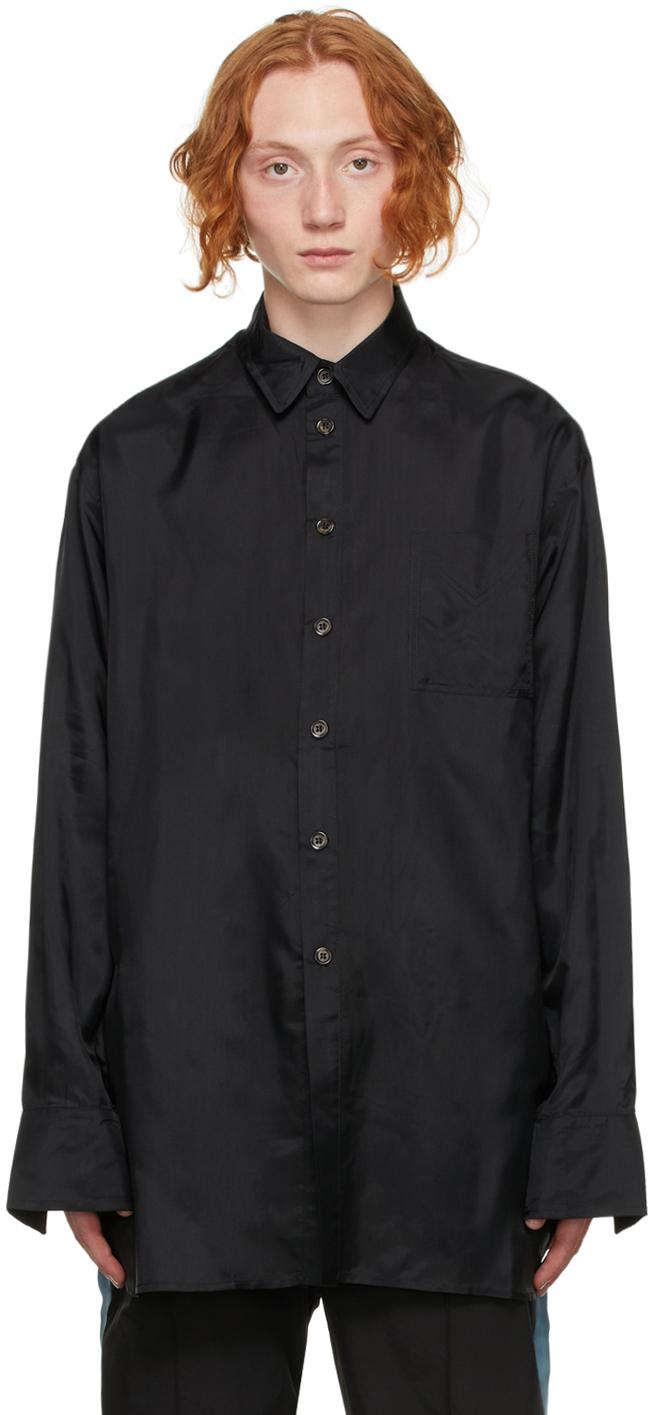 Black Satin Victorian Shirt