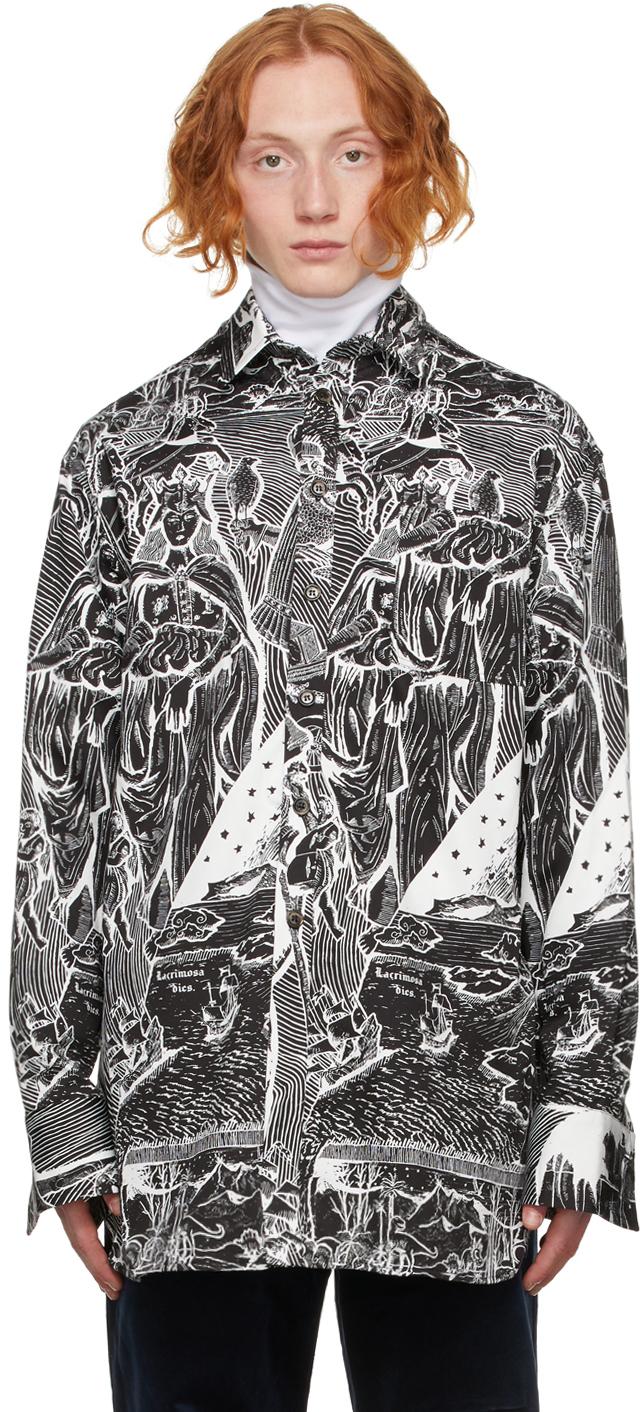Black & White Victorian Shirt
