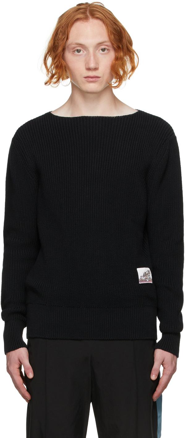 Black Cotton Sailor Sweater