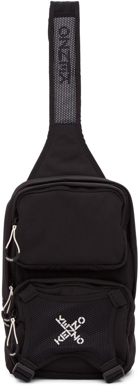 Black Single Shoulder Backpack