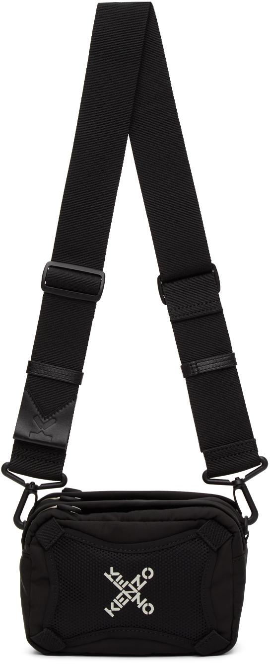 Black Sport Logo Shoulder Bag