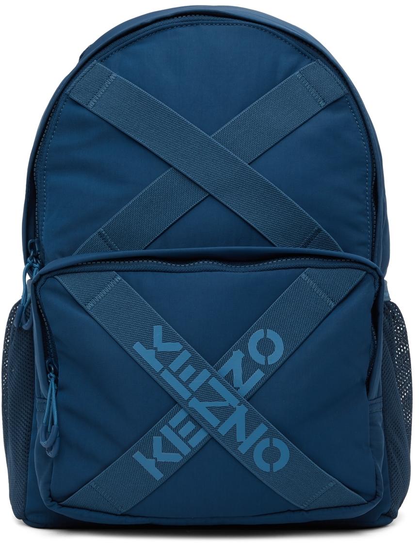 Navy Sport Logo Backpack