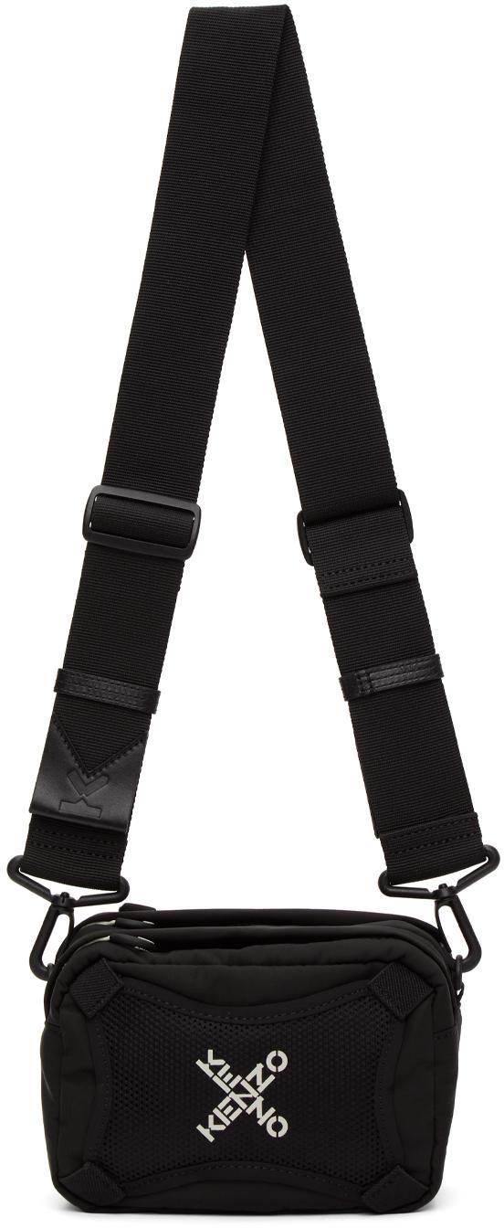 Black Sport Logo Crossbody Bag
