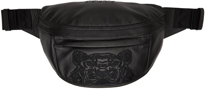 Black Leather K-Tiger Belt Bag