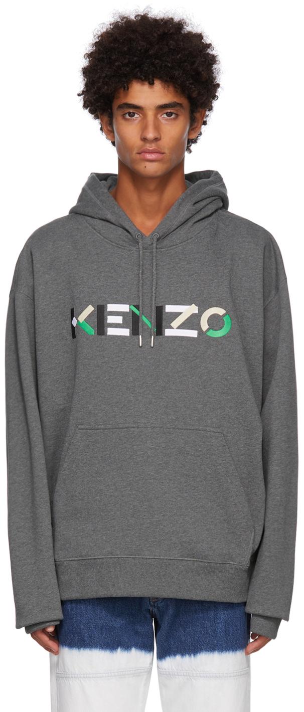 Grey Logo Oversized Hoodie