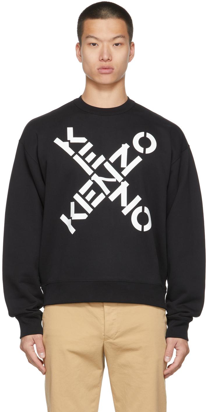 Black Sport Big X Sweatshirt
