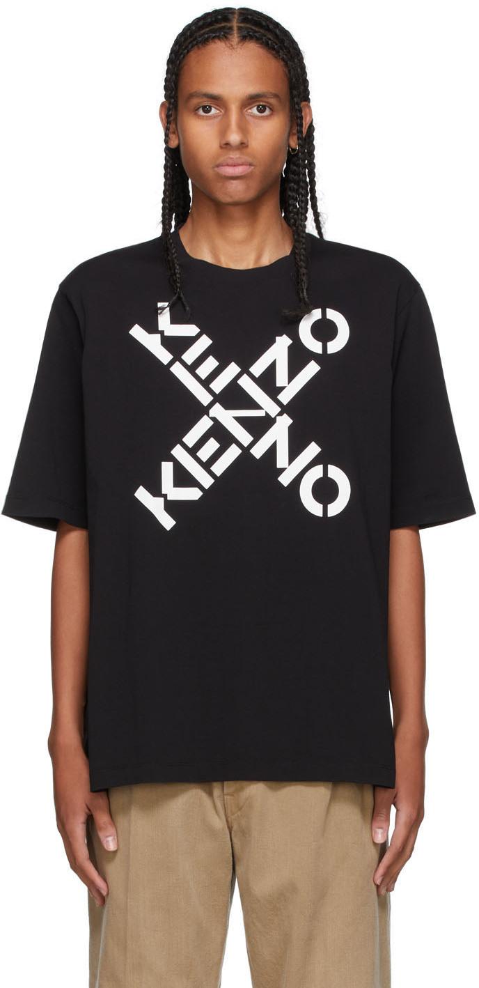 Black Oversized Sport Big X T-Shirt
