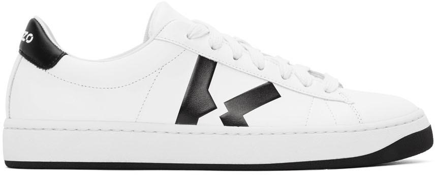 White K-Logo Kourt Sneakers