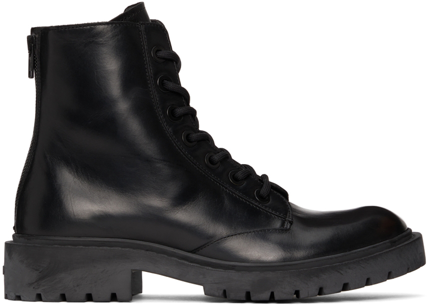 Black Pike Lace-Up Boots