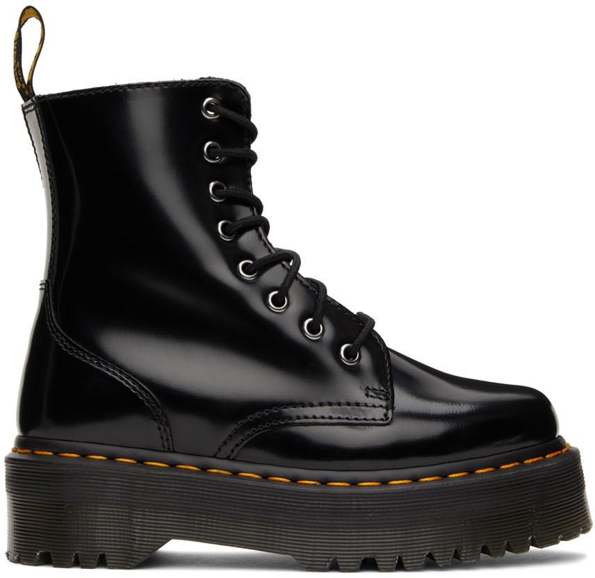 Black Jadon Retro Quad Boots