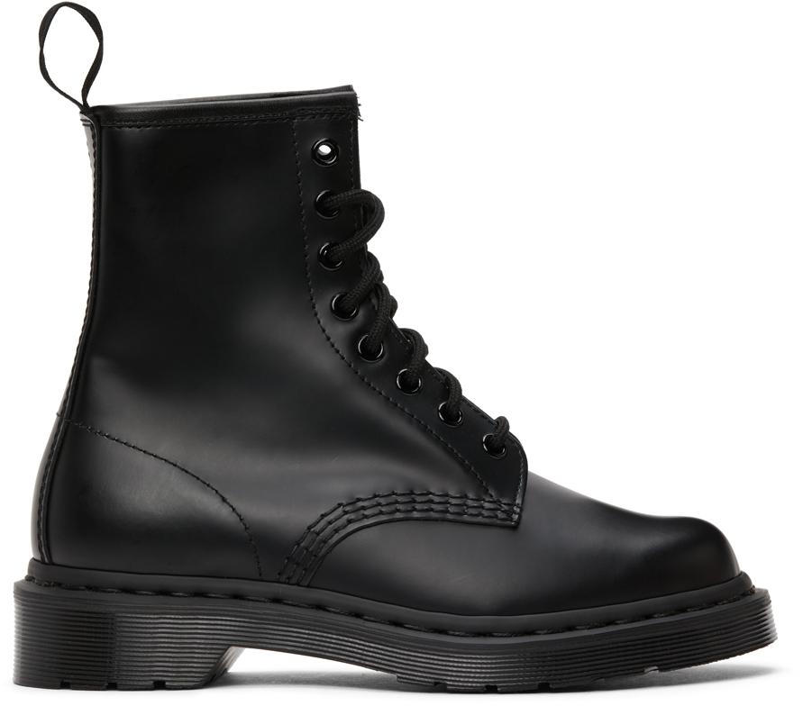 Black Mono 1460 Boots