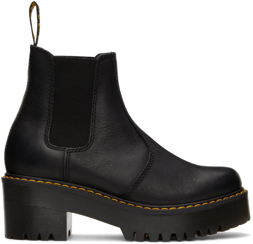 Black Rometty Platform Boots
