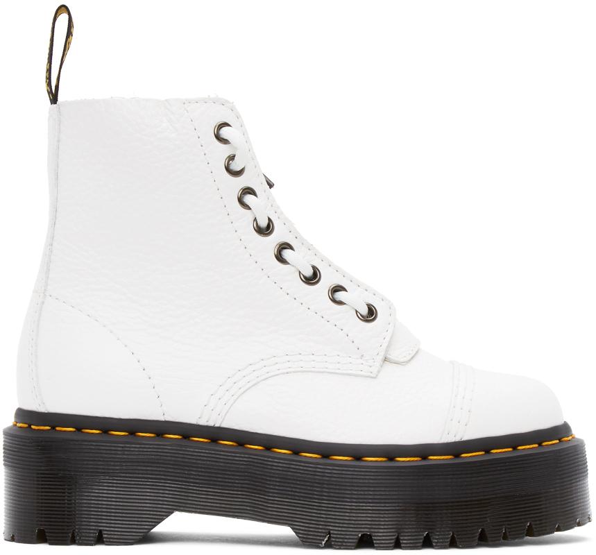 White Sinclair Zip Boots