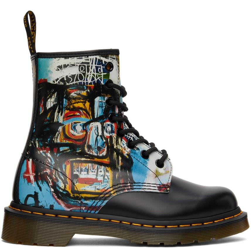 Black Jean-Michel Basquiat Edition 1460 Boots