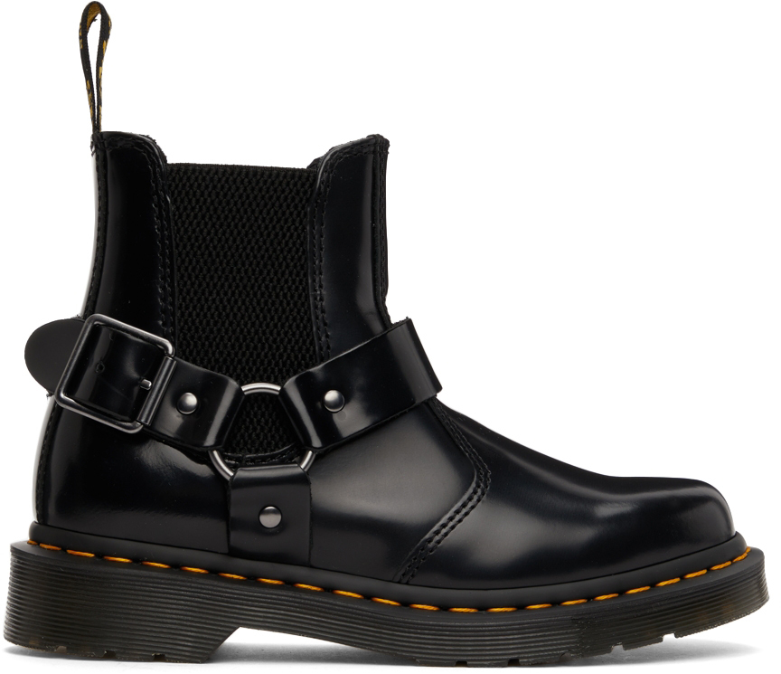 Black Polished Wincox Chelsea Boots