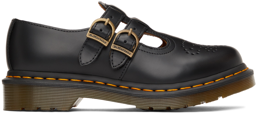 Black 8065 Mary Jane Oxfords