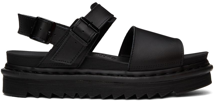 Black Leather Voss Sandals