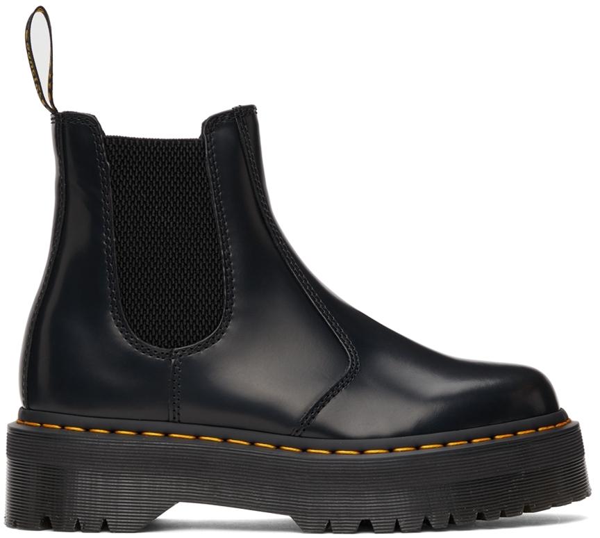 Black Polished 2967 Platform Chelsea Boots