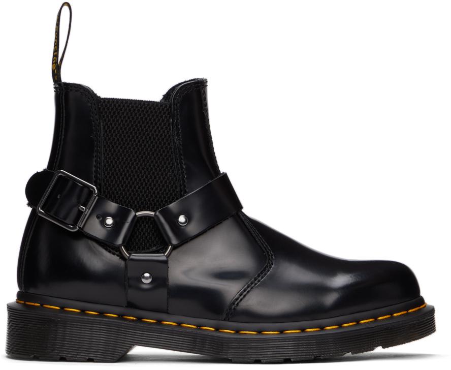 Black Wincox Buckle Chelsea Boots