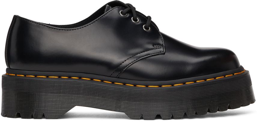 Black Smooth 1461 Platform Derbys